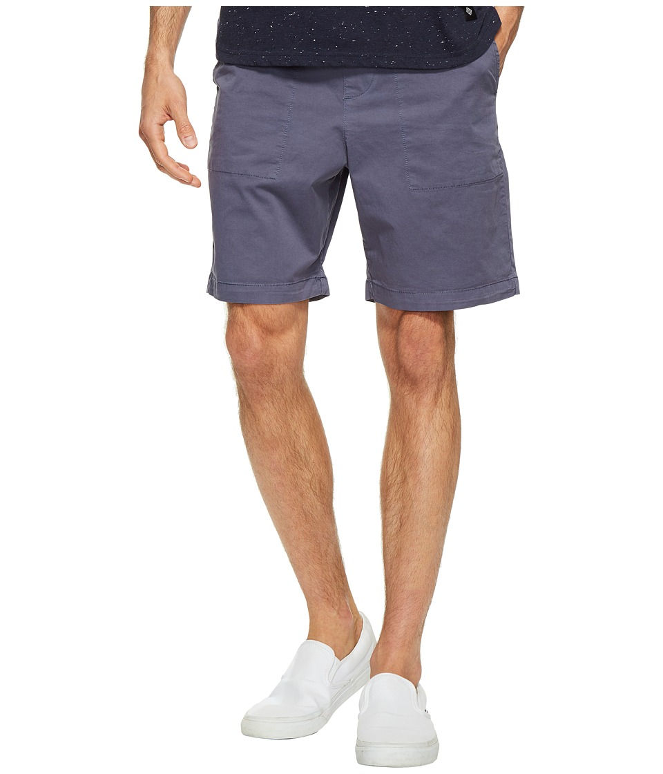Original Penguin - Stretch Cotton Garment Dye Shorts (Vintage Indigo) Men's Shorts