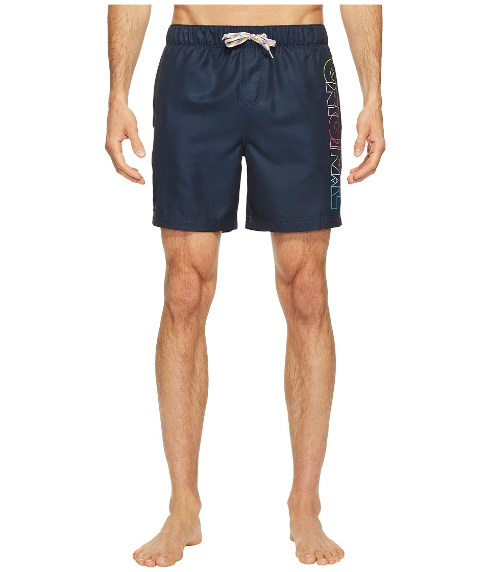 Original Penguin - Ombre Original Elastic Volley Swim Trunk (Dark Sapphire) Men's Swimwear