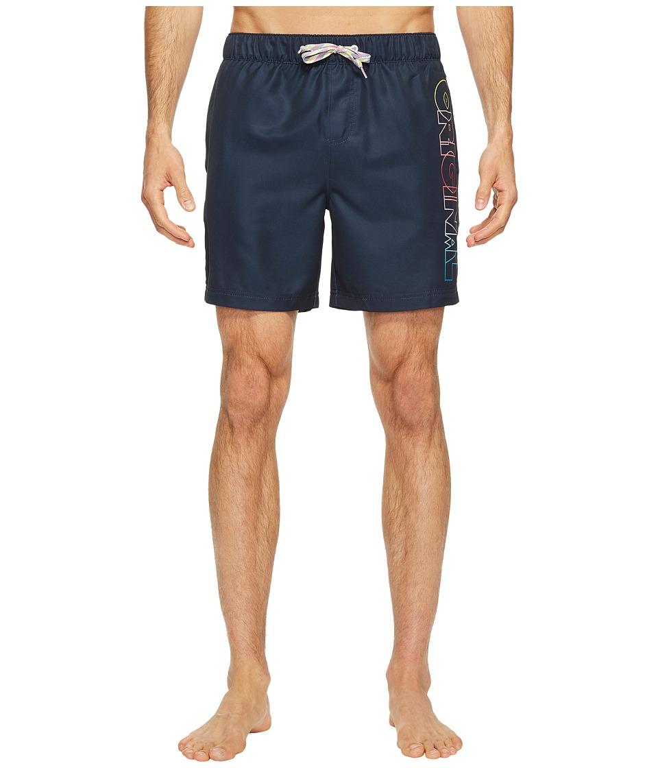 Original Penguin - Ombre Original Elastic Volley Swim Trunk (Dark Sapphire) Men's Swimwear