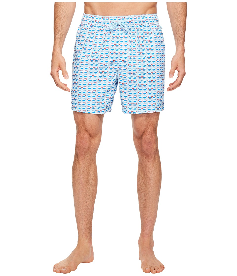 Original Penguin - Elastic Reversible Volley Trunk Volley Swim Trunk (Blue Glow) Men's Swimwear