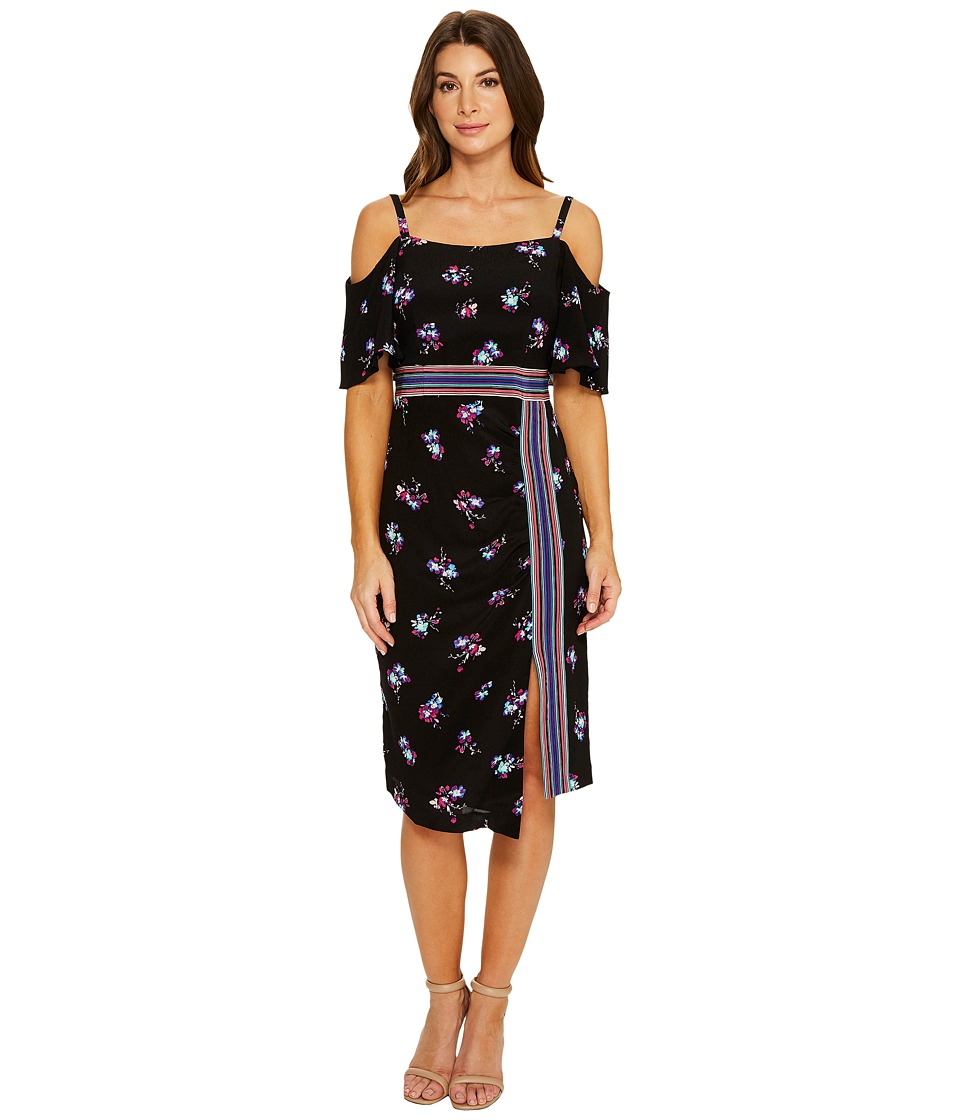 Nanette Lepore Songbird Sheath Black Multi Dress