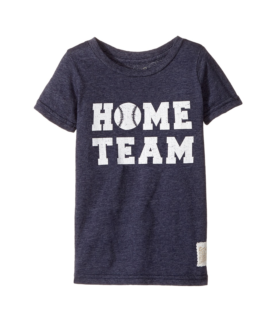 The Original Retro Brand Kids - Home Team Short Sleeve Tri-Blend Tee (Toddler) (Streaky Navy) Boy's T Shirt
