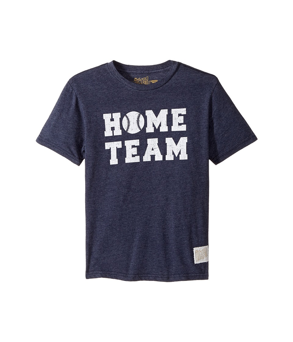 The Original Retro Brand Kids Home Team Short Sleeve Tri-Blend Tee (Big Kids) (Streaky Navy) Boy's T Shirt