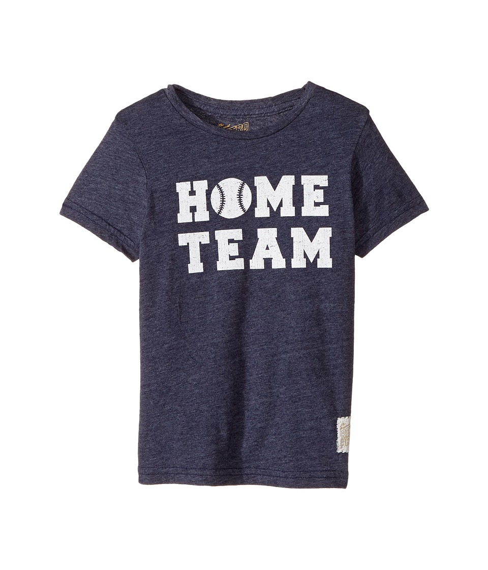 The Original Retro Brand Kids - Home Team Short Sleeve Tri-Blend Tee (Little Kids/Big Kids) (Streaky Navy) Boy's T Shirt