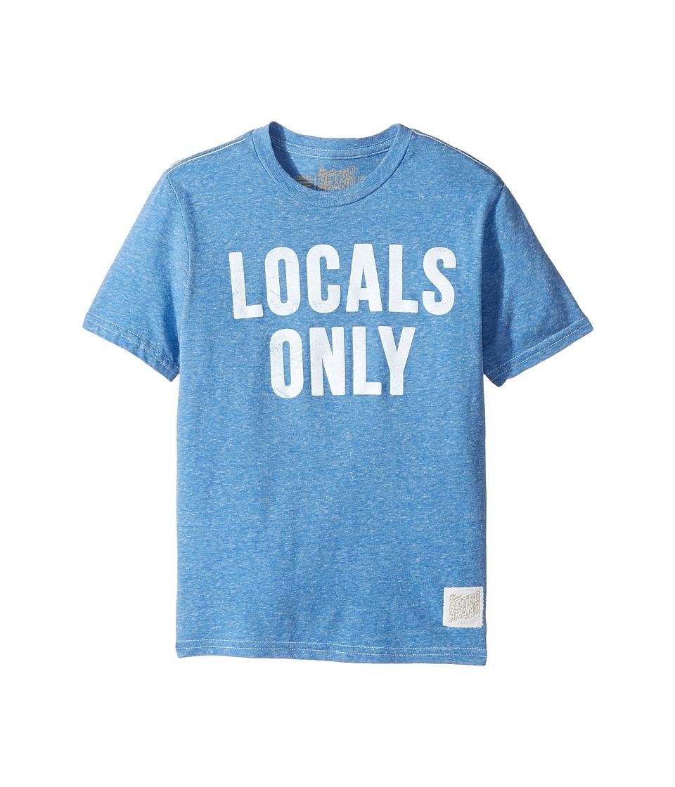 The Original Retro Brand Kids - Locals Only Short Sleeve Tri-Blend Tee (Big Kids) (Streaky Royal) Boy's T Shirt