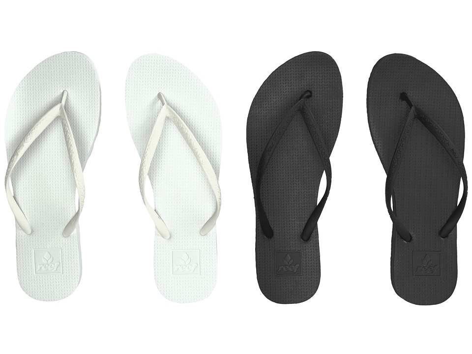 Reef Escape 2-Pair Variety Pack (Black & White) Women's Sandals