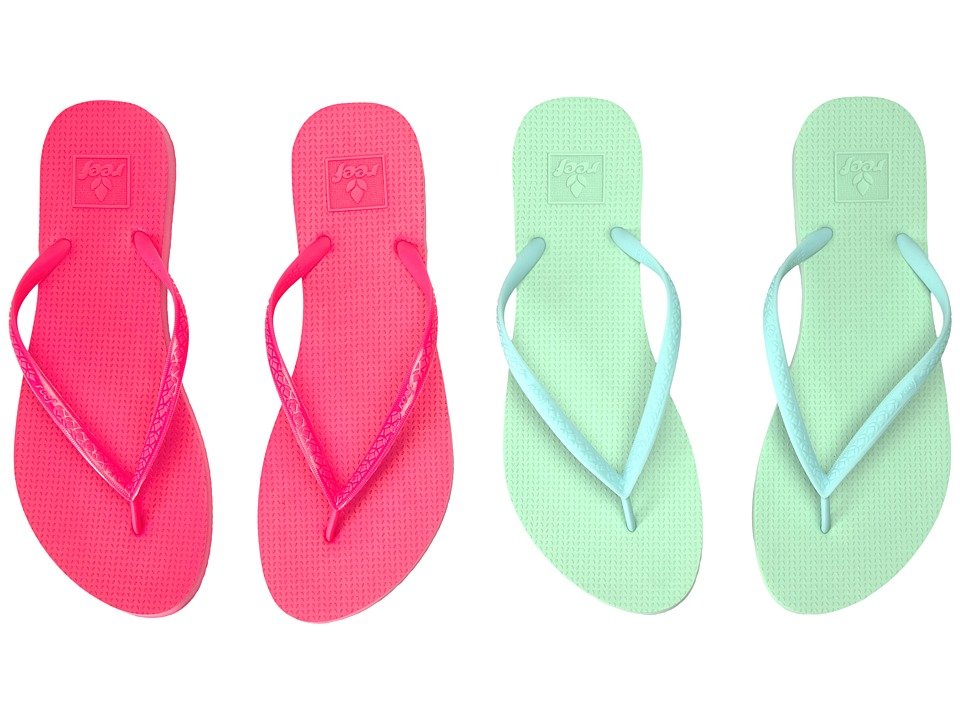 Reef - Escape 2-Pair Variety Pack (Pastel (Mint & Hot Pink)) Women's Sandals