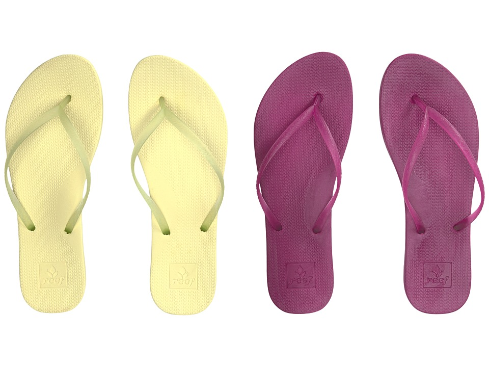 Reef - Escape Lux 2-Pair Variety Pack (Margarita (Lime & Raspberry)) Women's Sandals