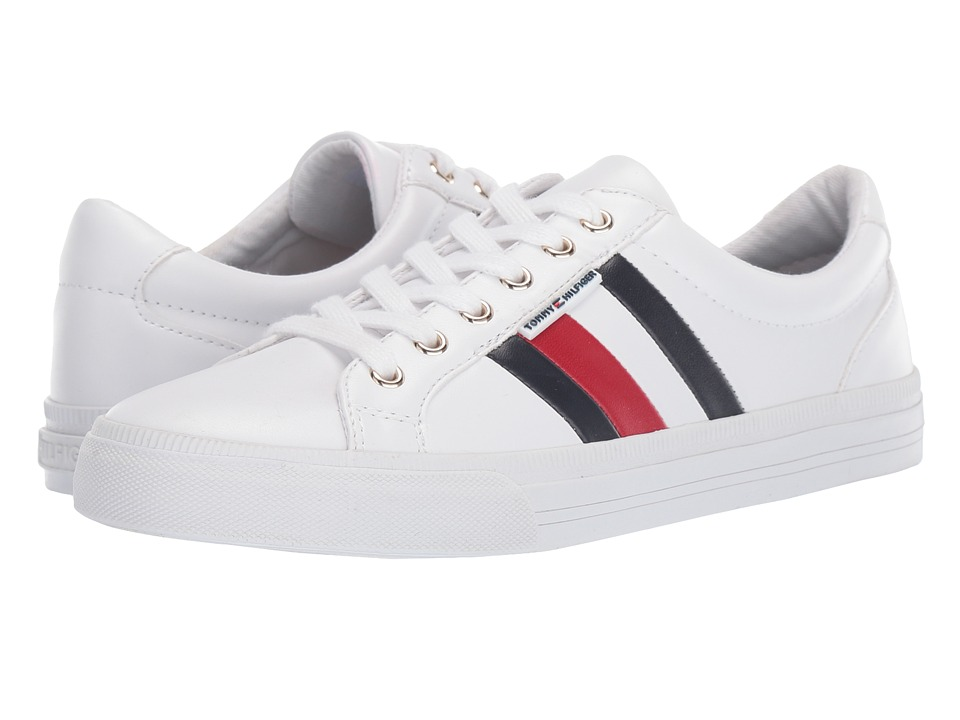 Tommy Hilfiger - Lightz (White/Marine/Tropic Red) Women's Shoes