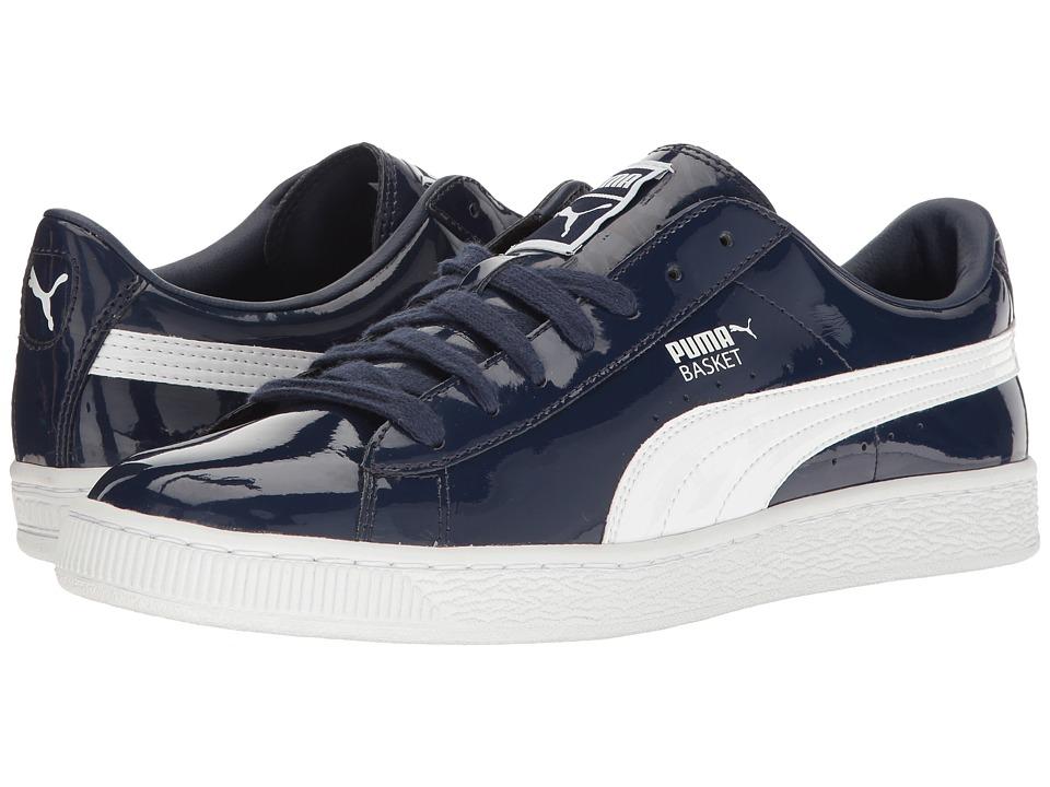 PUMA - Basket Matte Shine (Navy) Women's Basketball Shoes