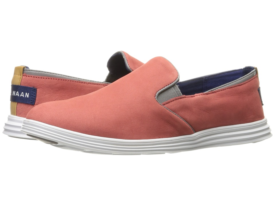 Cole Haan - Ella Grand 2 Gore Slip-On (New Mineral Red Nubuck/Ironstone/Optic White) Women's Slip on Shoes