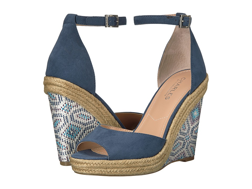 Charles by Charles David - Bay (Denim Microsuede) Women's Wedge Shoes