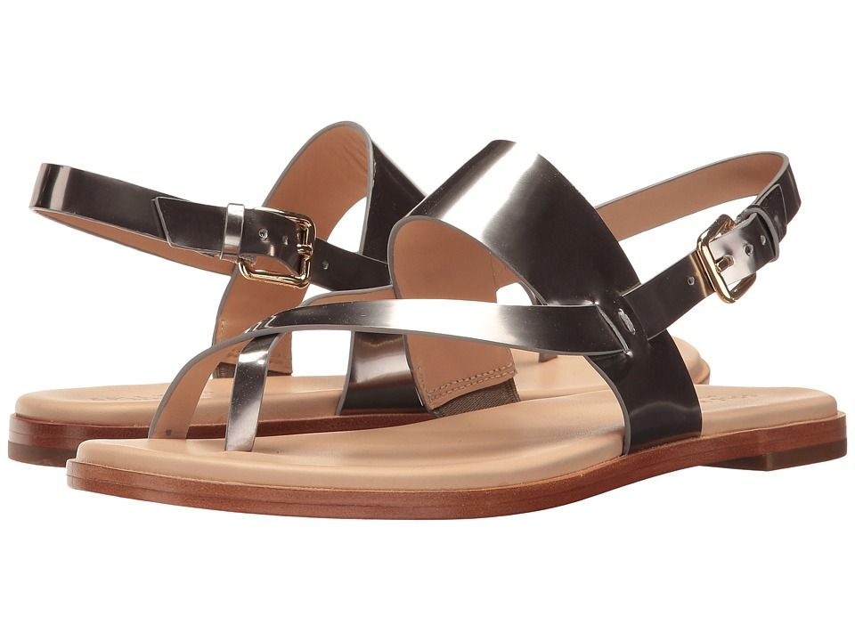 Cole Haan - Anica Thong Sandal (Pewter Metallic) Women's Dress Sandals
