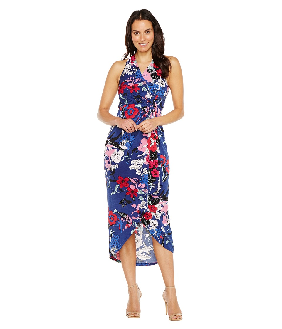 Adrianna Papell Halter neck High Low Wrap Dress