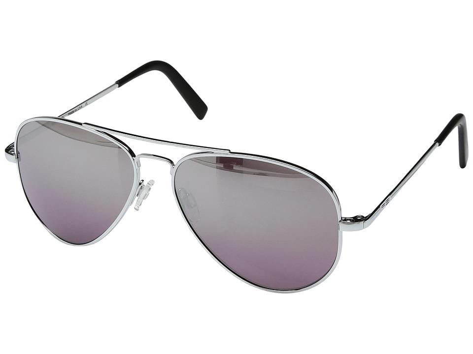 Randolph - Concorde 57mm (Bright Chrome/Midnight Metallic Nylon Anti Reflective Lens) Fashion Sunglasses