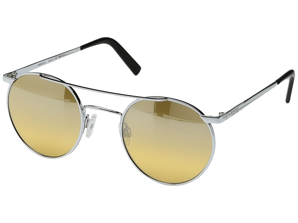 Randolph - P-3 Shadow 49mm (Bright Chrome/Citron Metallic Nylon Anti Reflective Lens) Fashion Sunglasses
