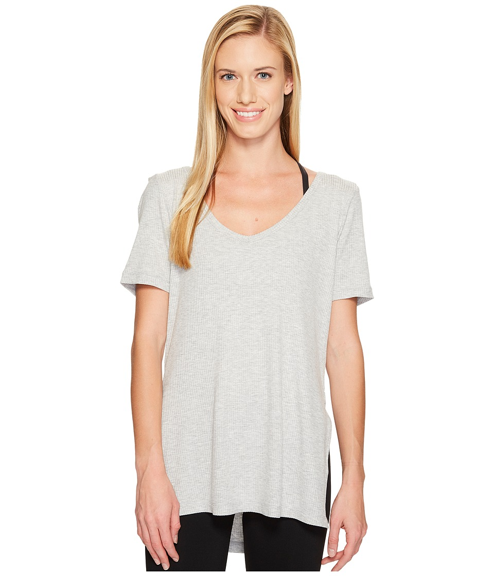 Lorna Jane - Bronx Short Sleeve Tee (Grey Marl) Women's T Shirt