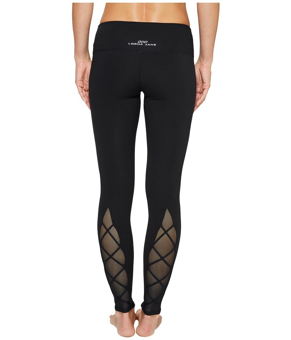 Lorna Jane - Crisscross F/L Tights (Black) Women's Casual Pants