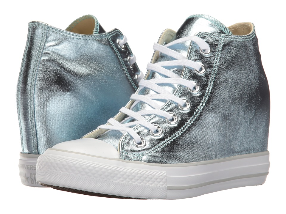 Converse - Ctas Lux Mid (Metallic Glacier/White) Women's Lace up casual Shoes