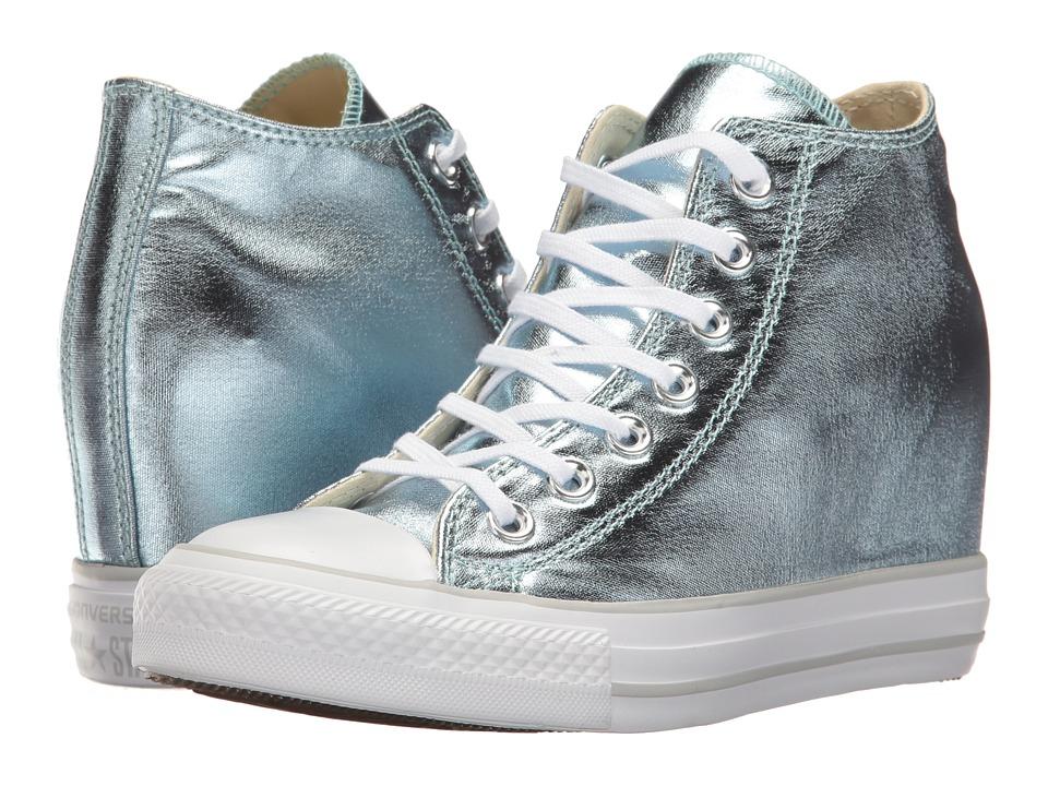Converse - Ctas Lux Mid (Metallic Glacier/White) Women's Lace up casual Shoes