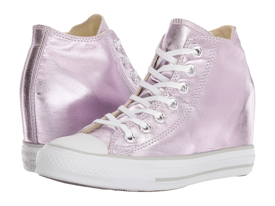 Converse - Ctas Lux Mid (Barely Fuchsia/White/Mouse) Women's Lace up casual Shoes