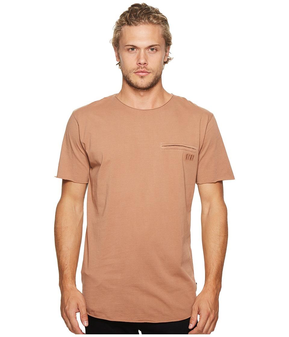 nANA jUDY - Chapel T-Shirt with Moto Biker Back Panel (Burnt Mauve) Men's T Shirt