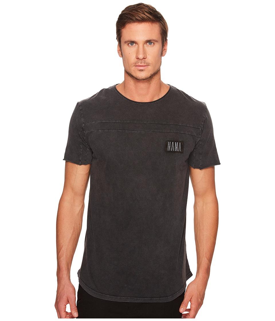 nANA jUDY - Roadhouse T-Shirt (Acid Black/Black Embroidery) Men's T Shirt