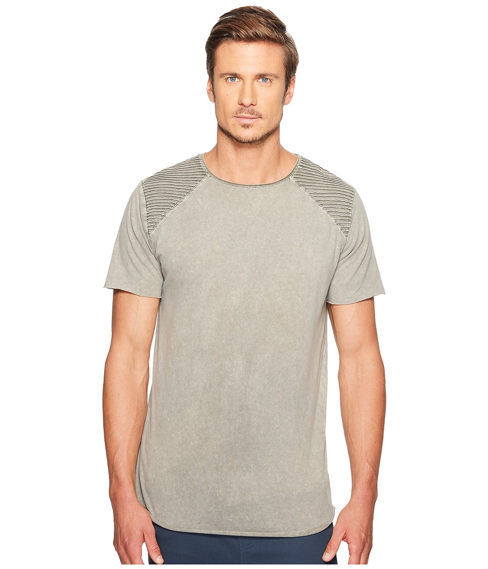 nANA jUDY - Kings T-Shirt with Corded Shoulder Detail (Acid Grey) Men's T Shirt