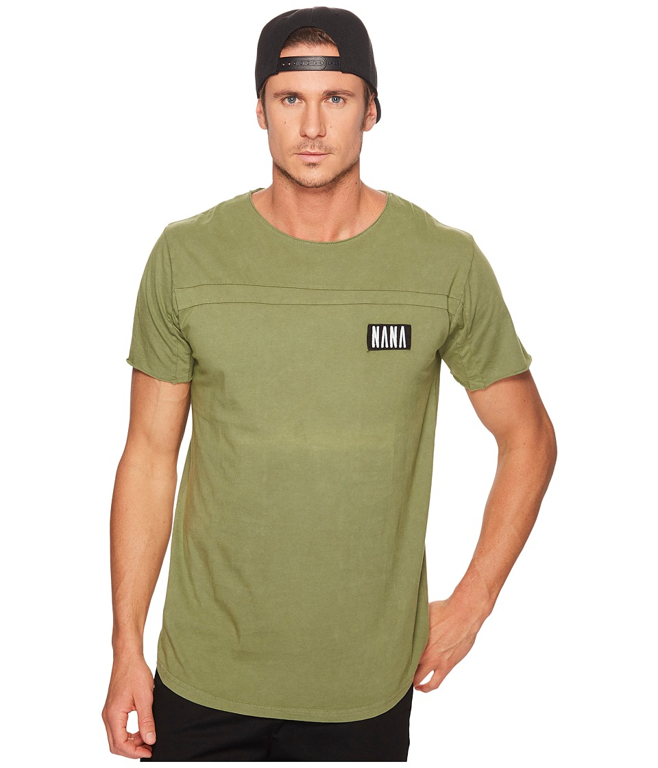 nANA jUDY - Roadhouse T-Shirt (Acid Khaki/Black Embroidery) Men's T Shirt