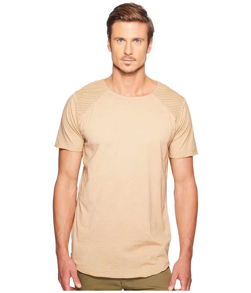nANA jUDY - Kings T-Shirt with Corded Shoulder Detail (Taupe) Men's T Shirt