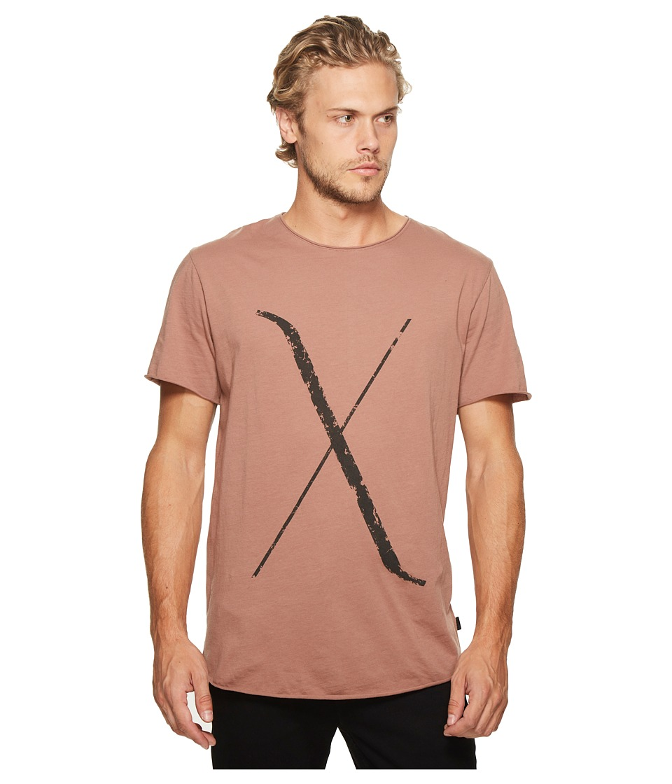 nANA jUDY - Brunswick T-Shirt with Cross Print (Burnt Mauve) Men's T Shirt