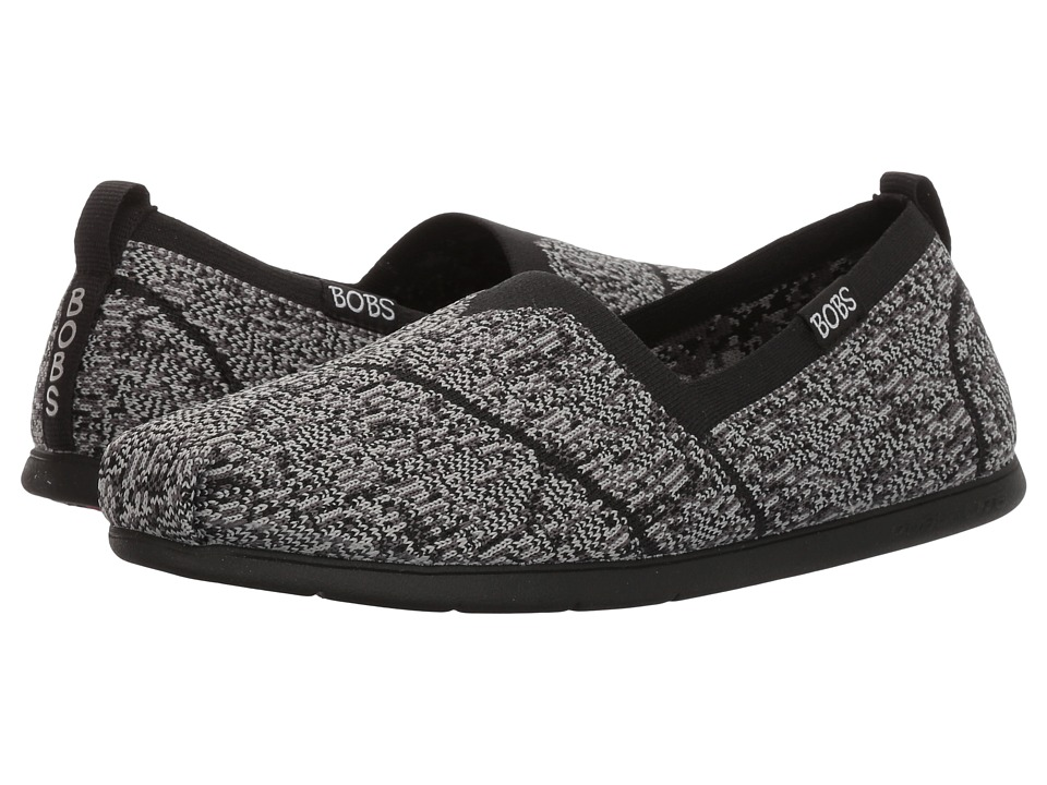 BOBS from SKECHERS Plush Lite Tailor-Made (Black/Gray) Women