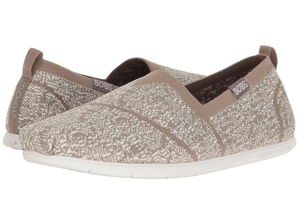 BOBS from SKECHERS - Plush Lite - Tailor-Made (Taupe) Women's Shoes