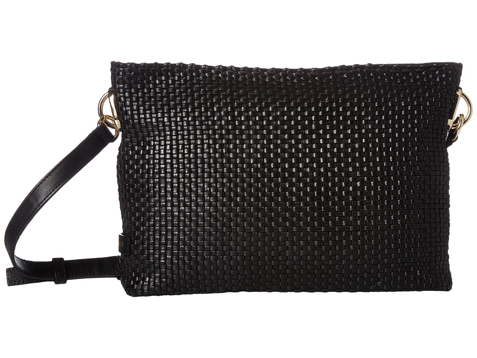 Cole Haan - Benson Woven Crossbody Bag (Black) Cross Body Handbags