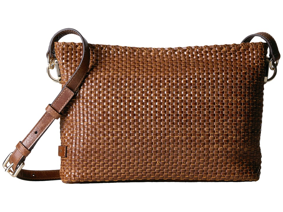 Cole Haan - Benson Woven Crossbody Bag (Honey) Cross Body Handbags