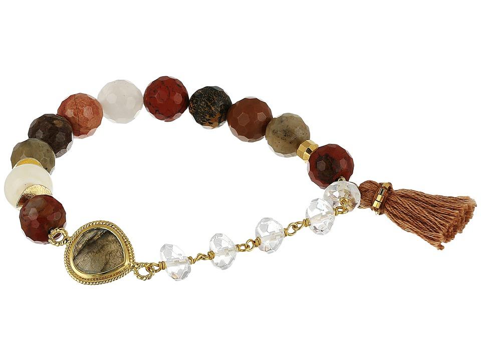Chan Luu - Stretch Bracelet w/ Tassel Semi Precious Stone (Multi Mix) Bracelet