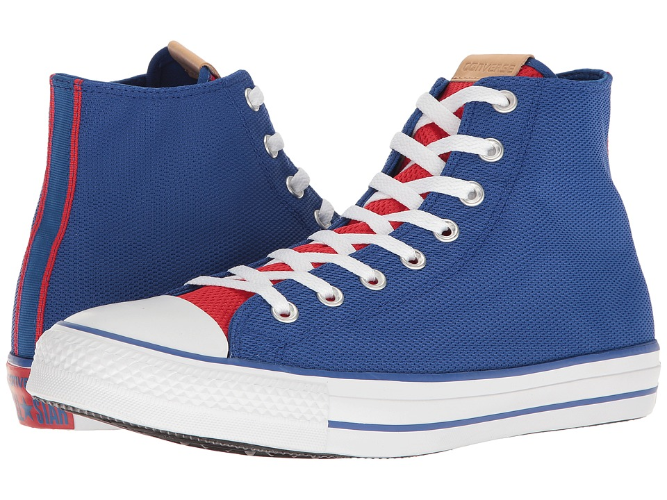 Converse - Chuck Taylor(r) All-Star(r) Hi (Blue/Red/White) Classic Shoes