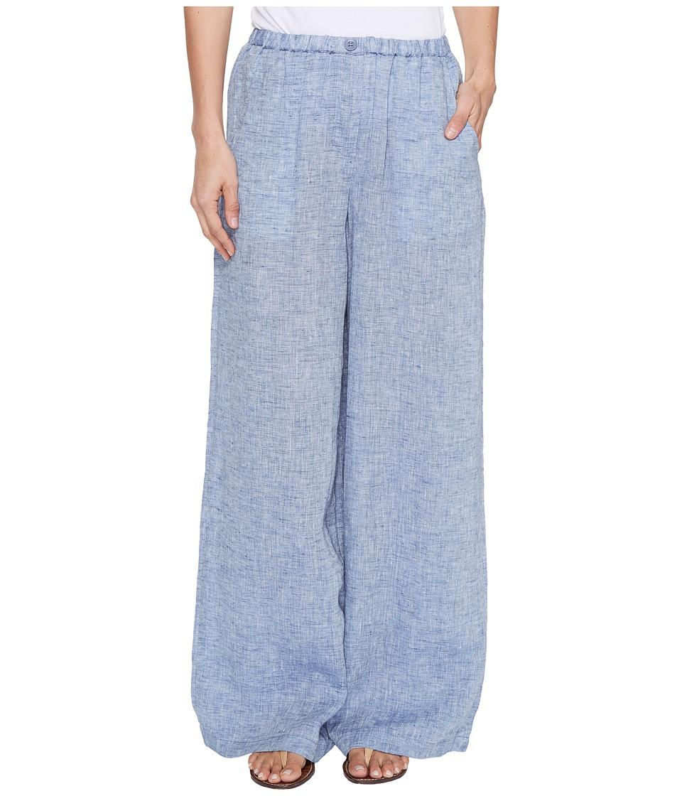 NIC+ZOE - Drifty Linen Pants (Indigo Mix) Women's Casual Pants