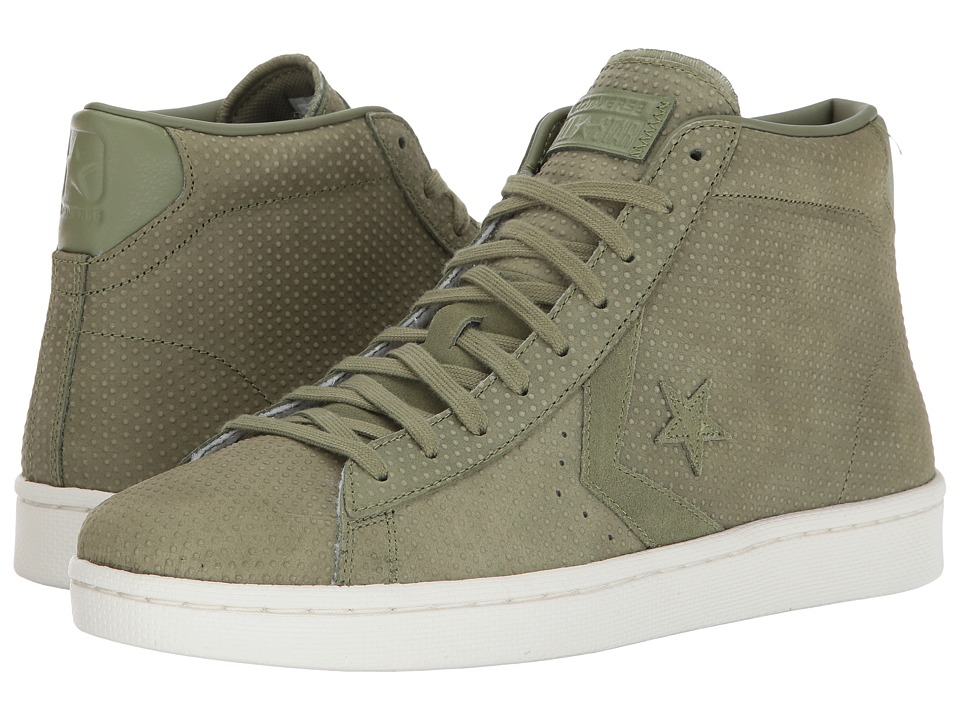 Converse - Pro Leather 76 Mid (Fatigue Green/Fatigue Green) Classic Shoes
