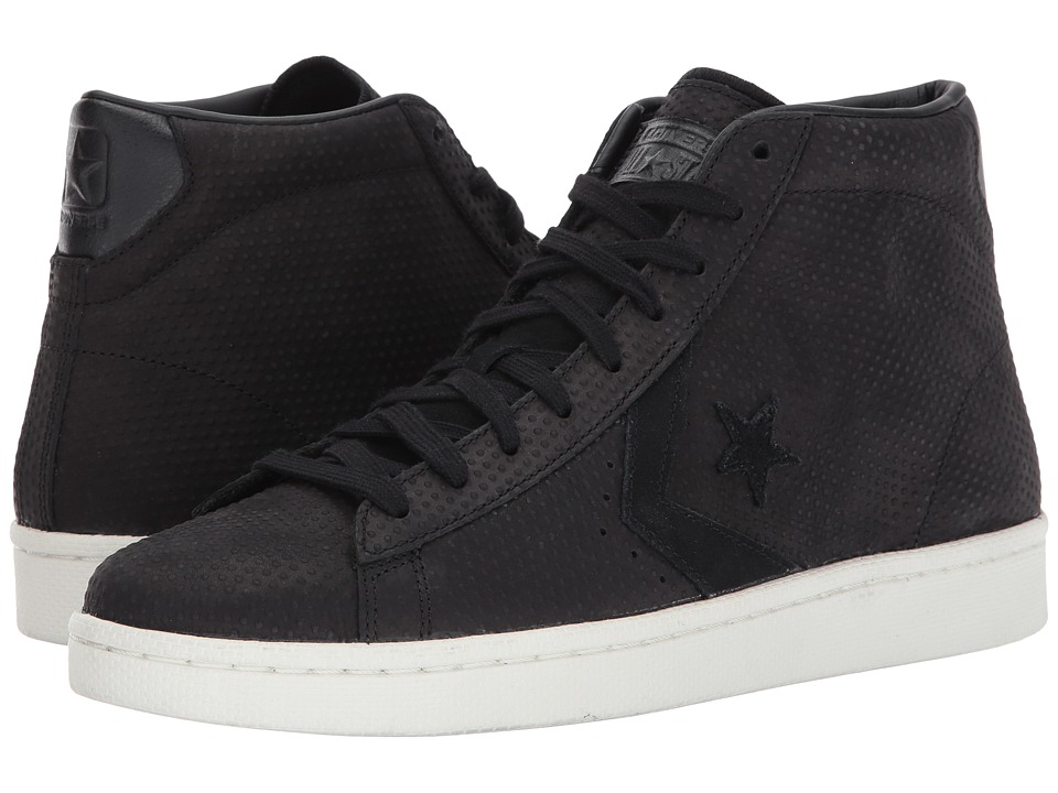 Converse - Pro Leather 76 Mid (Black/Black/Egret) Classic Shoes