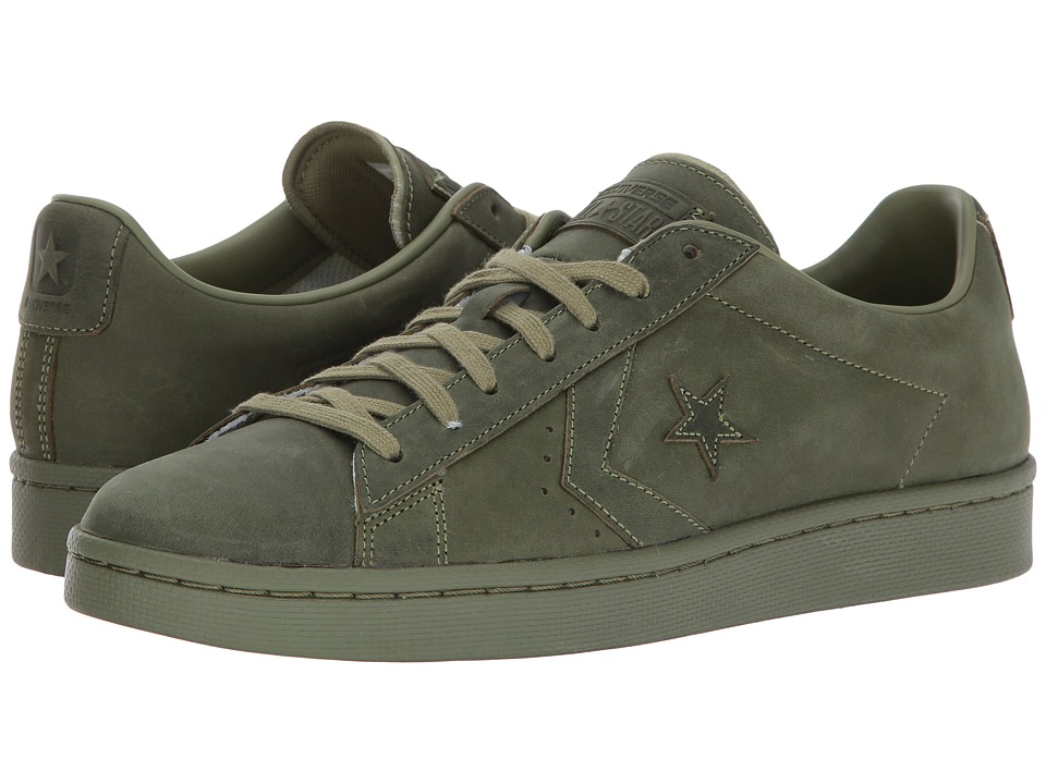Converse - Pro Leather 76 Ox (Fatigue Green/Fatigue Green) Classic Shoes