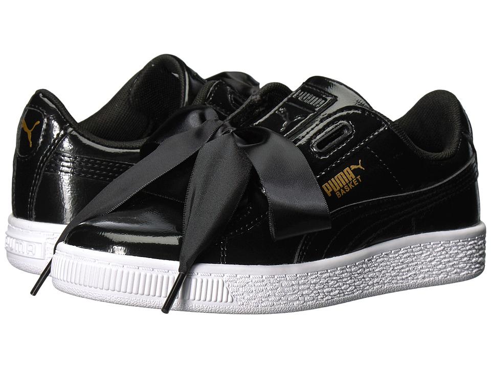 Puma Kids Basket Heart Glam (Little Kid/Big Kid) (Puma Black/Puma Black) Girls Shoes