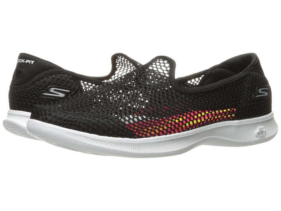 SKECHERS Performance GO STEP Lite Wispy (Black/White) Women