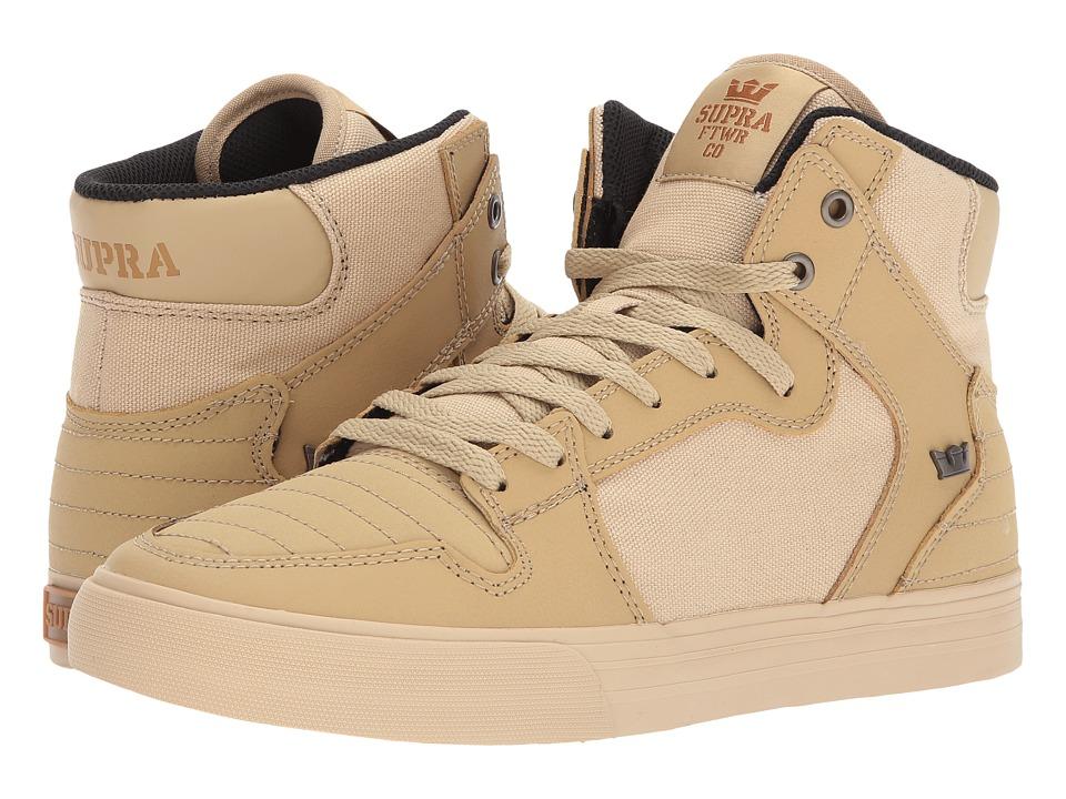 Supra Vaider (Khaki Nubuck/Khaki) Skate Shoes