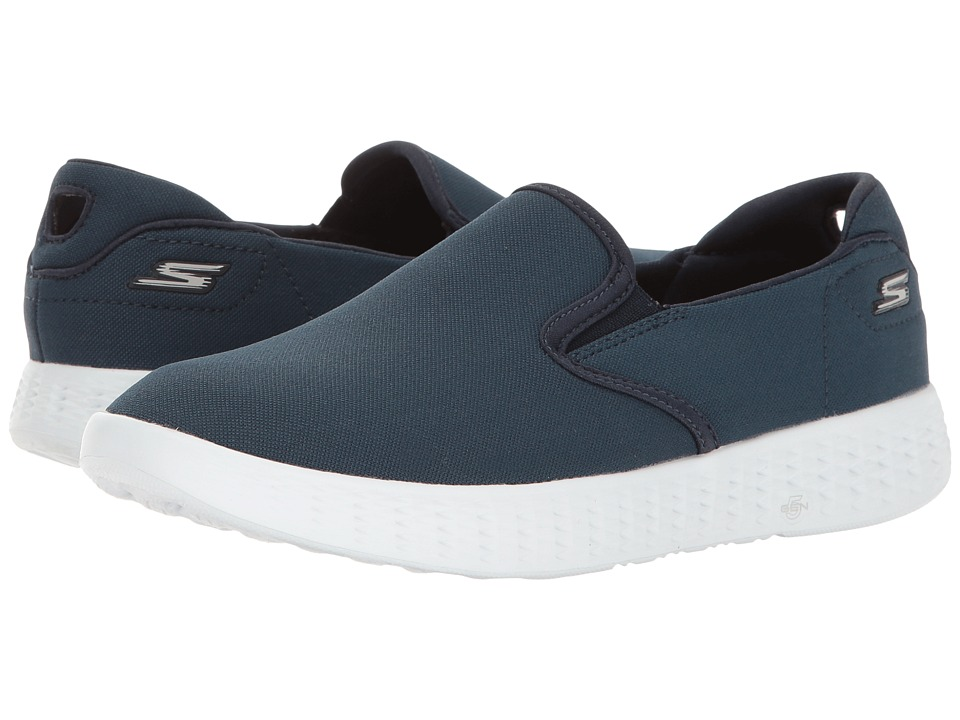 SKECHERS Performance - On The GO Glide (Navy/White) Women's Shoes