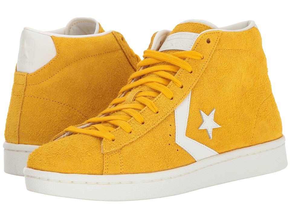Converse - Pro Leather 76 Mid (Yellow/Egret/Egret) Classic Shoes