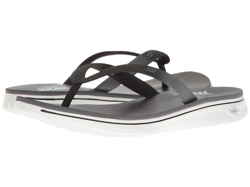 SKECHERS Performance - H2 Goga - Splash (Black/White) Women's Sandals