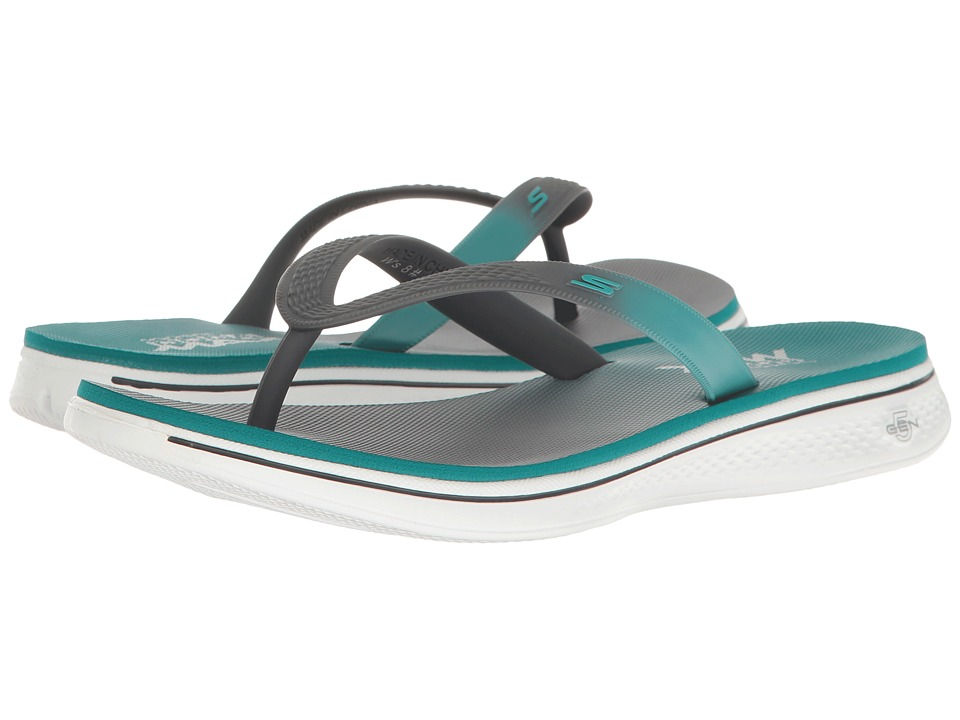 SKECHERS Performance - H2 Goga - Splash (Charcoal/Teal) Women's Sandals