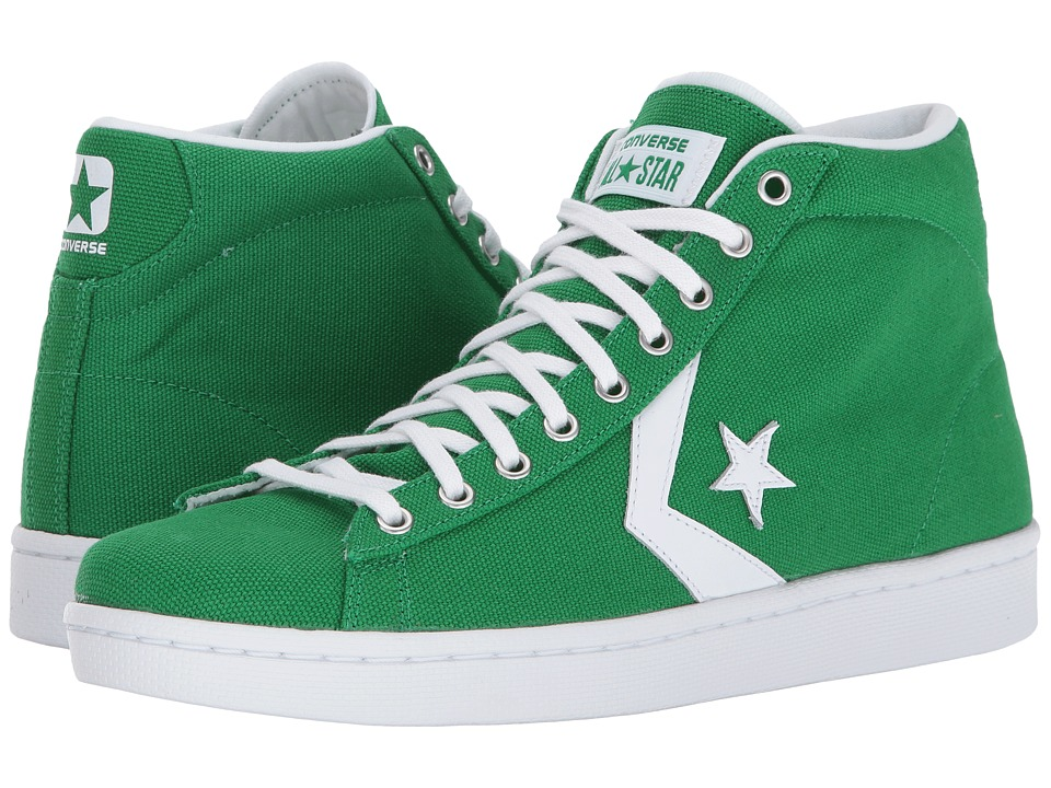 Converse - Pro Leather 76 Mid (Green/White/White) Classic Shoes