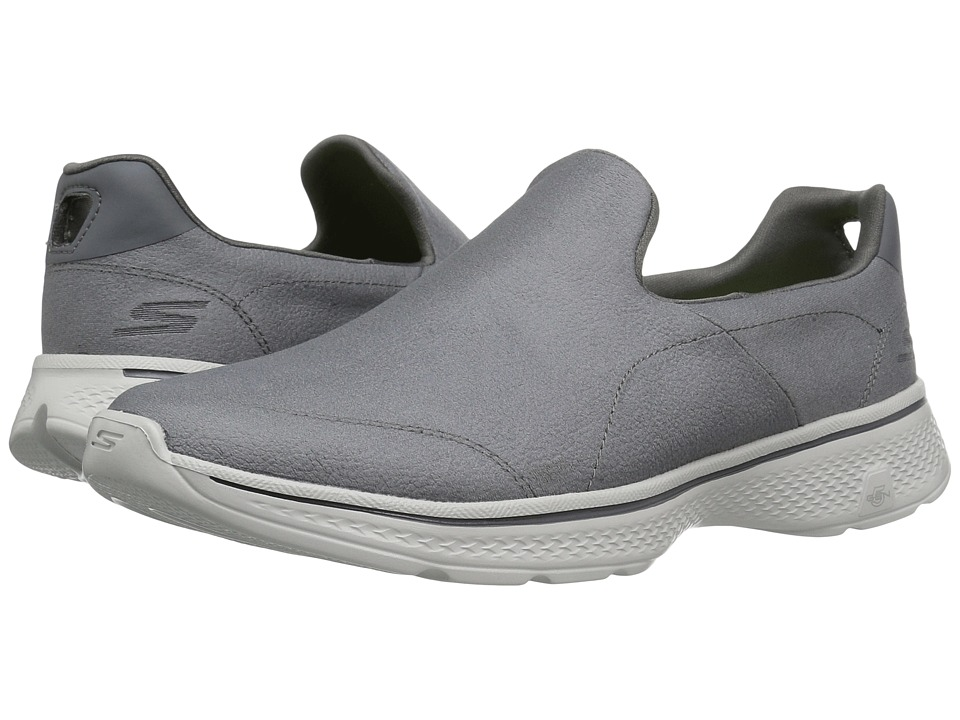 SKECHERS Performance - GOwalk 4 - Remarkable (Charcoal) Men's Shoes